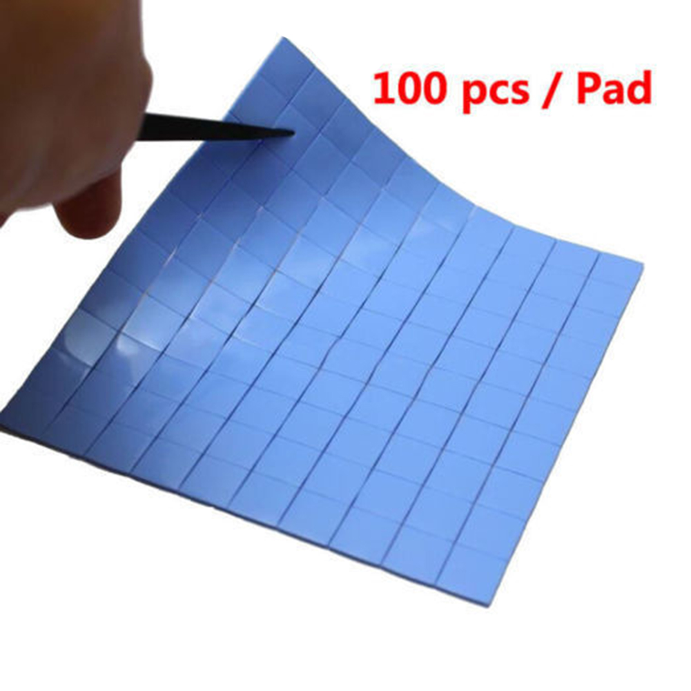 100Pcs 10x10x0.5mm Heatsink Silicone Thermal Conductive Pad for GPU VGA IC 100mm 100mm 1mm soft silicone thermal pad thermal pads heat conductive for heatsink laptop ic chipset chip vga gpu gap