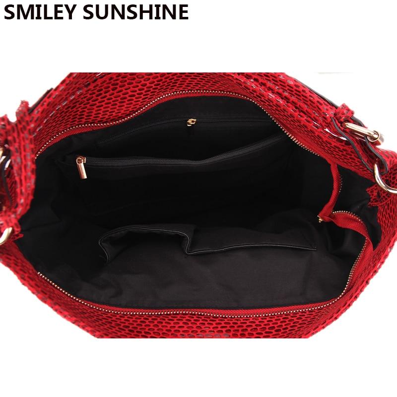 crossbody bolsas femininas hobo tote Shape : Serpentine Leather Bag