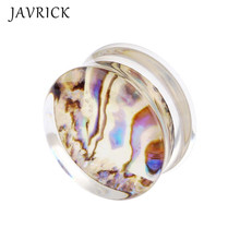 Abalone Shell Ear Expansion Fashion Women Popular Earring Jewelry 8mm 10mm 12mm 14mm 16mm 18mm 20mm