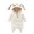 2017 de primavera y otoño ropa de Recién Nacido bebé niños chicas del oído de conejo con capucha mamelucos infantiles 0-12 M niño ropa