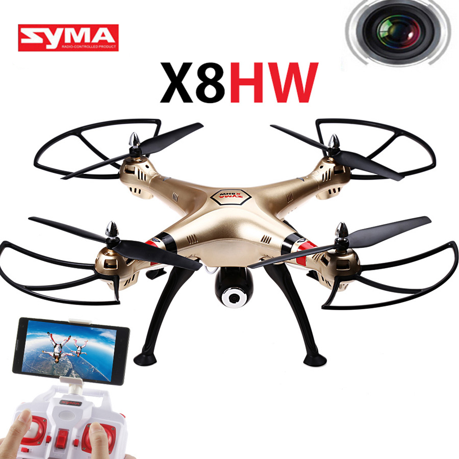 SYMA X8HW FPV RC Quadcopter Drone With Wifi Camera 2.4G 4CH 6Axis RC Helicopters Automatic Air Pressure High Mode new syma x8hw x8w upgrade fpv rc quadcopter drone with wifi camera 2 4g 4ch 6 axis rc helicopter automatic air pressure high
