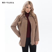 New Jacket Women Casual Jacket Coat Turn Down Collar Slim Solid Color Plus Over Size S