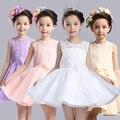 2016 Nuevo Verano Muchachas de Flor Vestido de Noche Blanco Con Arco Niños Niños Ropa Para El Banquete de Boda Estilo Coreano Traje de Bebé