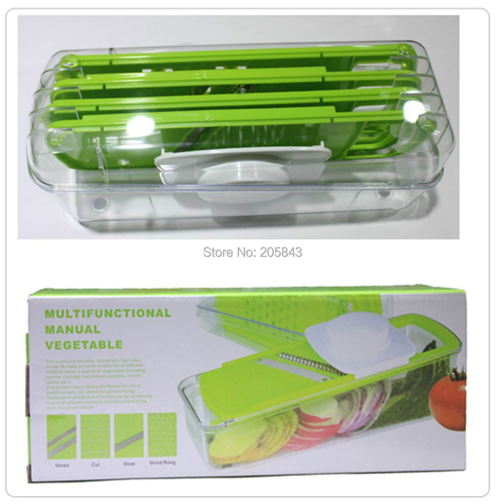 Slicer Vegetable Grater Fruit Peeler Cutter Shredder Chopper  With Guard Multifunctional Manual Vegetable
