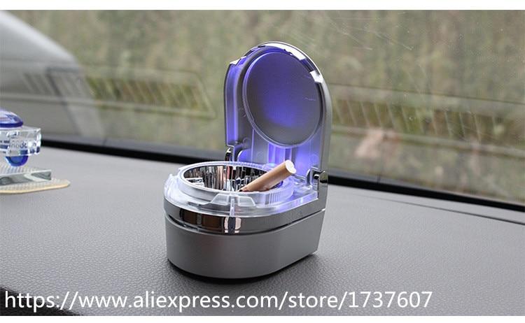 1pc Colors Auto Portable Car Travel LED Light Lamp Light Emitting Ash Cylinder Car Ashtray Cigarette Cylinder Ashtray Holder Cup