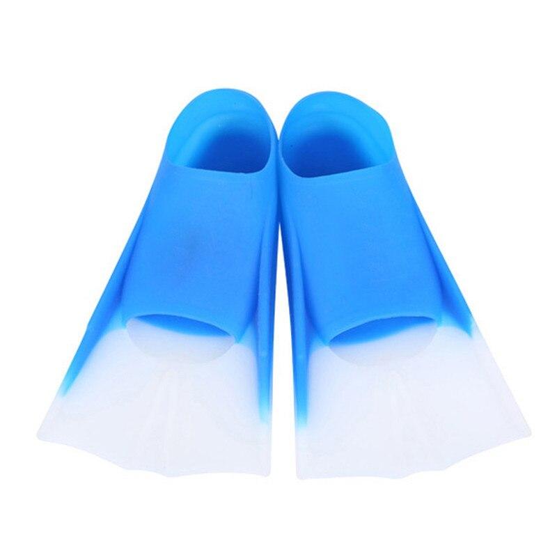 Alta calidad natación aletas de buceo de silicona largo aletas Snorkel aletas zapatos para niños adultos nadar zapatos verano