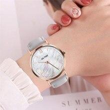 Новое поступление Простые Модные женские часы Женские кварцевые наручные часы женские часы OKTIME Популярные брендовые белые женские кожаные часы A4