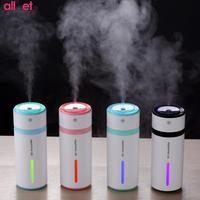 Portable 230ml Bottle USB Humidifier Ultrasonic Night Light Car Air Humidifiers Mist Maker Mini Home Desktop