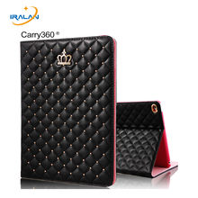 2017 novo Caso para iPad mini123 Transportar 360 Moda Crown PU Couro Smart cover para iPad mini Da Apple 1 2 3 7.9 polegada + stylus + film(China)