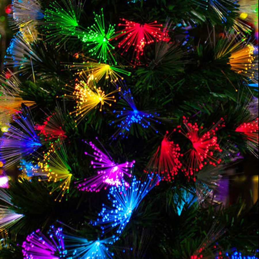 100pcs Led String Light Christmas Decoration Dandelion Optic Fiber Fairy String Lamp Romantic Atmosphere Party Wedding Festival