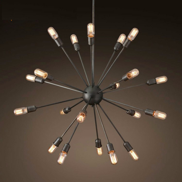 American vintage iron spark ball pendant light fixture home deco dining room DIY retro E27 Edsion bulb pendant lamp AC 110-240V deco home вешалка