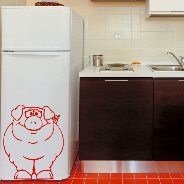 Stickers murali Paffuto Maiale Animale Vinile Wall Stickers Cucina ...