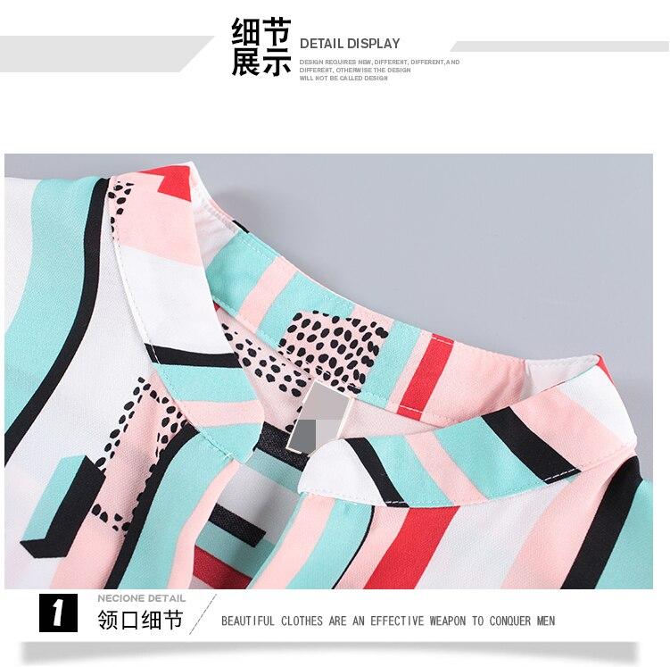 New OL suits 2018 summer Korean fashion stripe chiffon blouse top & wide-legged pants two pcs clothing set lady outfit S-4XL 23
