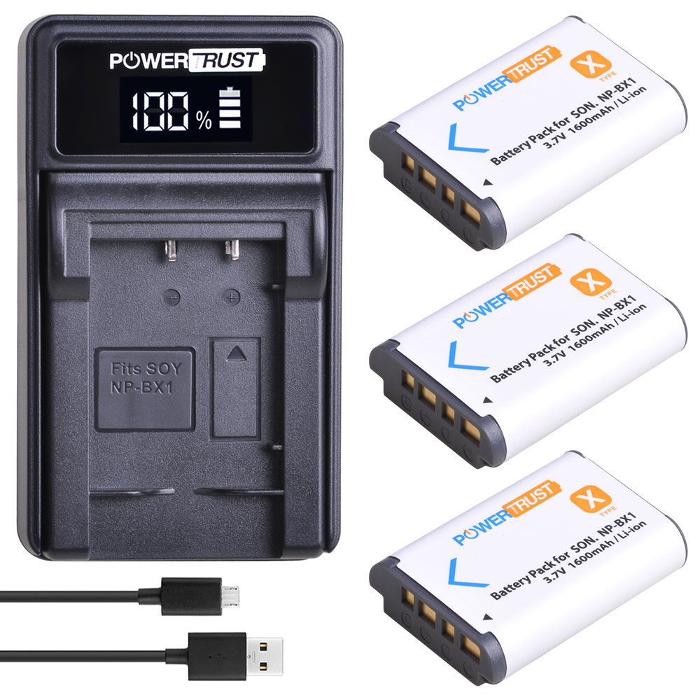 3Pcs NP-BX1 npbx1 <font><b>Battery</b></font> akku+LED USB Charger For <font><b>Sony</b></font> DSC-RX100 DSC-WX500 IV HX300 WX300 <font><b>HDR</b></font>-AS15 X3000R MV1 AS30V <font><b>HDR</b></font>-<font><b>AS300</b></font> image