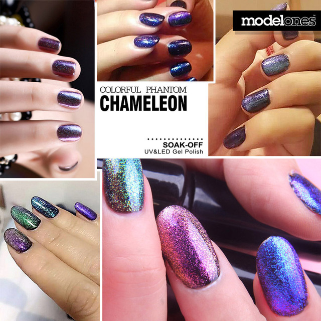 Modelones 1Pcs New Arrival Colorful Phantom Chameleon 10ml UV LED Nail Gel Choose Any 1 Color Soak Off UV Nail Polish