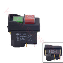 Waterproof IP55 Push Button Electromagnetic switch 4 Pin AC250V 16A MagnetIc Starter Power Tool Safety Switches for Machine tool(China)