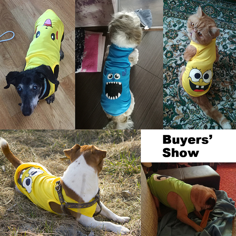 Cheap Small Dog Clothes Summer Spring 11 Cartoon Styles Pet Dog Cat Shirt Cute Yorkshire Terrier T-shirt Breathable Pet Vest 01
