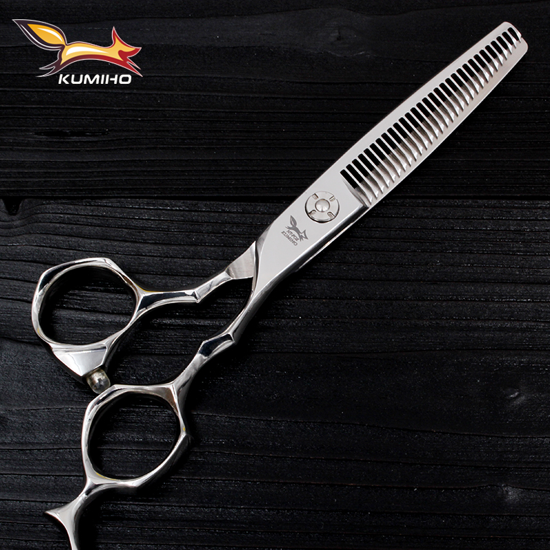"KUMIHO 6 ""Professionale Barber Hair Denti Thinning Cutting Forbici HaircutTexturizing Shears Acciaio giapponese 440C Spedizione Gratuita"