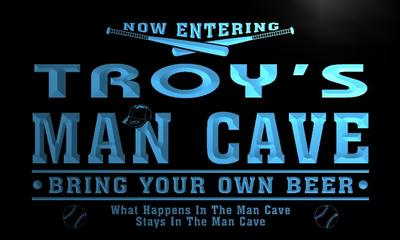 x0139-tm Troys Man Cave Baseball Bar Custom Personalized Name Neon Sign Wholesale Dropshipping On/Off Switch 7 Colors DHL