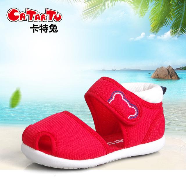 Carter crianças coelho Sapatos de Bebê verão 2017 nova função de unisex crianças sandálias da criança infantes sapatos antiderrapantes fundo macio