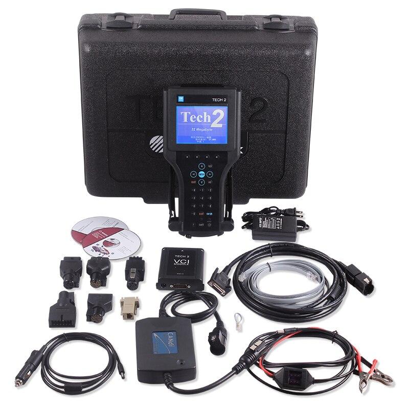 Prix pour Dhl livraison gratuite GM tech2 outil de diagnostic pour GM / SAAB / OPEL / SUZUKI / ISUZU / Holden Vetronix GM tech 2 scanner avec boîte en plastique