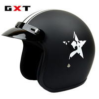 Newest Half Open Face Motorcycle Helmet Unisex Racing Sport Protection Gear Vintage Head Helmets Five Star DOT ECE G386