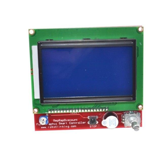 3D printer smart controller RAMPS 1.4 LCD 12864 LCD control panel blue screen 1