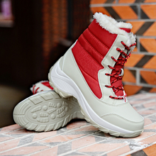New Trend Women Winter Shoes Leather Platform Brand Hot Sale Height Increasing Women Winter Boots Warm Ladies Boots Snow Luxury