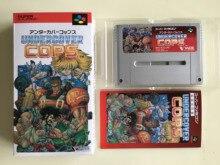 ¡Juegos de 16 bits ** Undercover Cops (versión japonesa NTSC J! Caja + Manual + cartucho!)