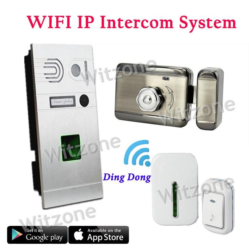 Wireless Wifi Doorbell Camera 720P Fingerprint Recognition Wireless Video Doorphone Intercom IOS Android APP Remote Unlock
