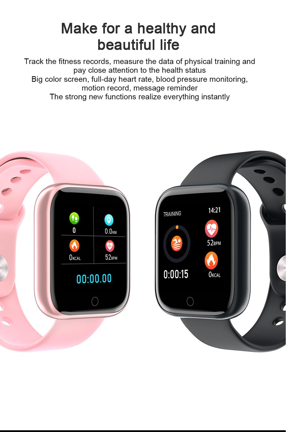 Reloj inteligente impermeable T80 Bluetooth 3