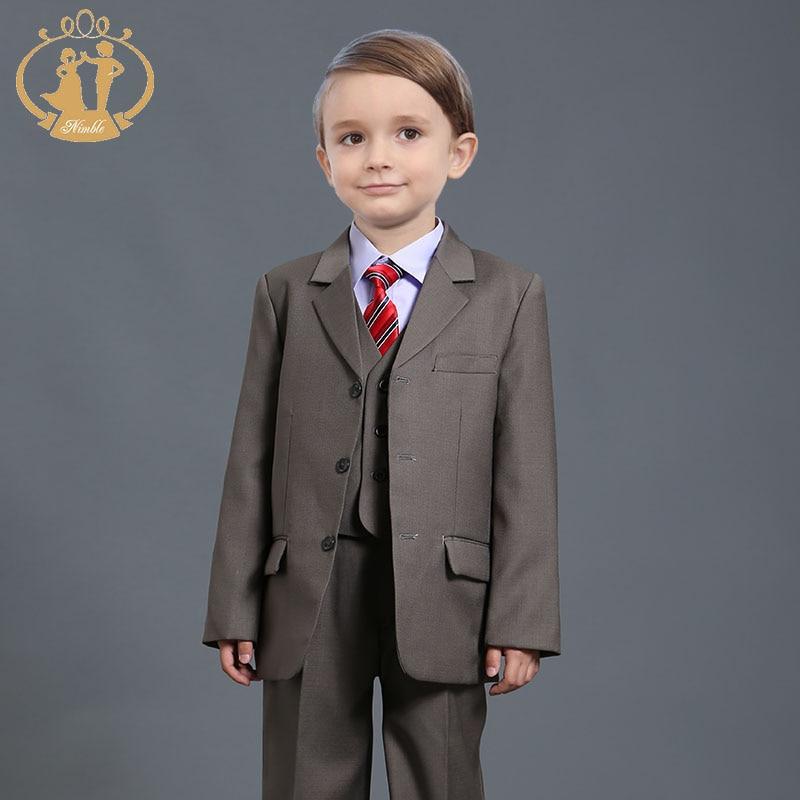 children clothing sets boys blazers wedding sets 3 Pieces boys tuxedo suits Student performance clothes 72-7