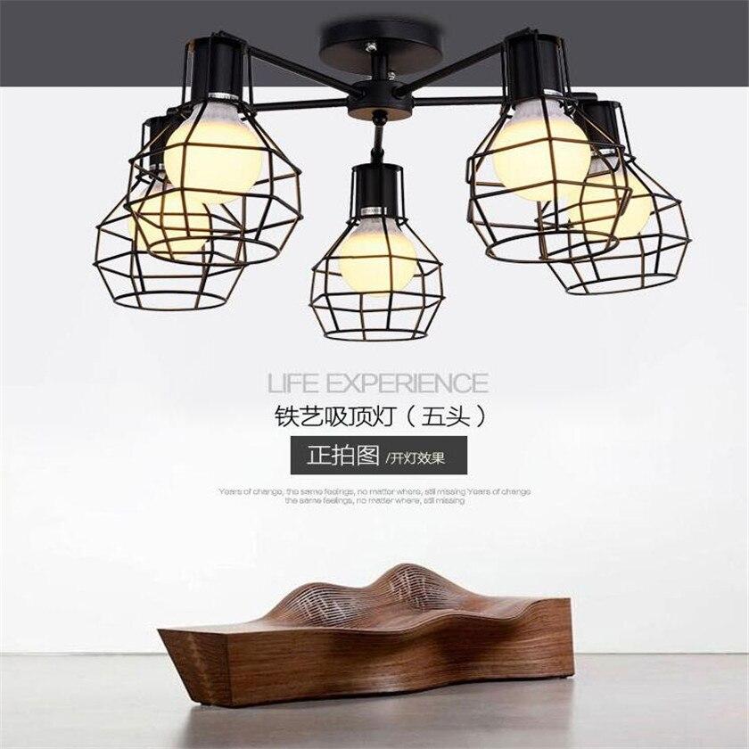 American industrial eisen lampenschirm kronleuchter Leuchten retro ...