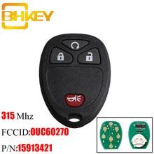 Дистанционный Автомобильный ключ BHKEY с 4 кнопками «сделай сам» для Chevrolet avalsilverado TAHOE 2007-2014 OUC60221 OUC60270 15913421 оригинальный ключ