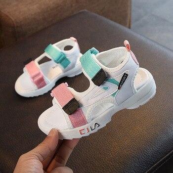 ULKNN Kids Sandals 2020 New Fashion Casual Boys Shoes Summer Baby Soft Bottom Girls Children's Sandalies Wholesale