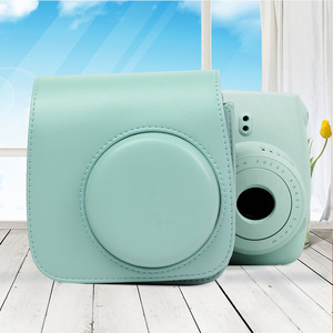 Image 5 - Besegad PU Leather Digital Camera Bag Case Cover Pouch Protector for Polaroid Fujifilm Instax Mini 9 Mini9 Instant Print Gadgets