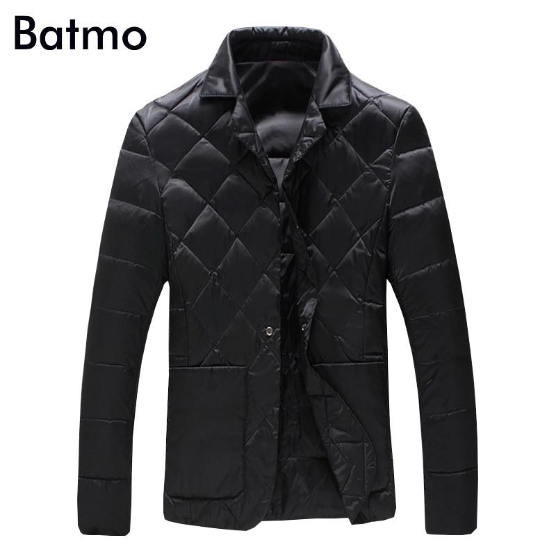 Batmo 2017 new arrival winter high quality 90% white duck down casual jacket men,black winter mens coat plus-size M-5XL,Y1104