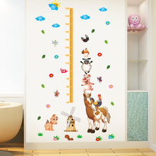 Happy Farm Poultry Animals Height Chart Wallpaper Baby Cartoon Children's Room Decoration Wall Stickers Nursery Measure Stickers ngk farm stickers