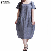 New Arrival Women Dress 2016 Fashion Casual Loose Summer Dresses Short Sleeve O Neck Vestidos Plus