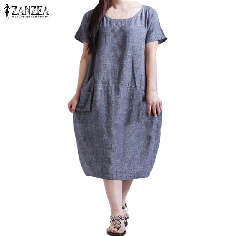 New Arrival Women Dress 2016 Fashion Casual Loose Summer Dresses Short Sleeve O Neck Vestidos