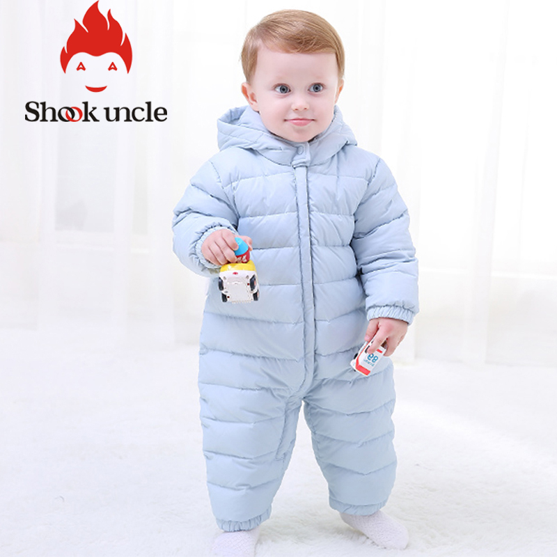 Rabbit ear Newborn Baby Winter Rompers Cotton Padded Thick Girl boy Warm Jumpsuit Autumn Fashion baby's wear Kid Climb Clothes