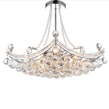 цена на 2018 New Style Crystal Lustre Chandelier Simple Crystal Light Lustres chrome crystal Living Room Ceiling Lamp Fixture