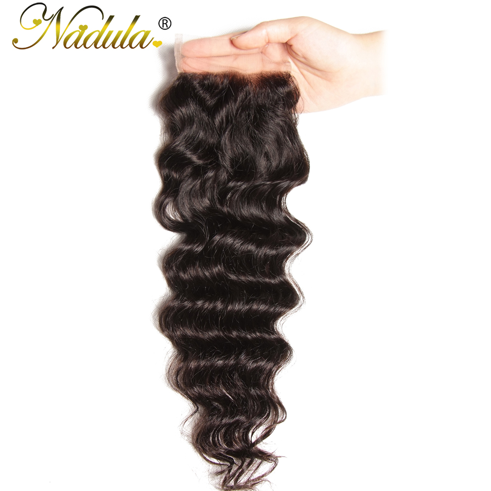 Nadula Hair 10-20INCH  Natural Wave Closure 100%  s 4*4 Free Part Swiss Lace Closure  1