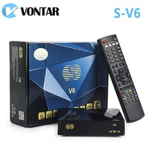 [Genuine]S-V6 Mini HD DVB-S2 Satellite Receiver V6 Support Card Sharing Newcamd xtream Wheel TV youtube USB Wifi Biss Key