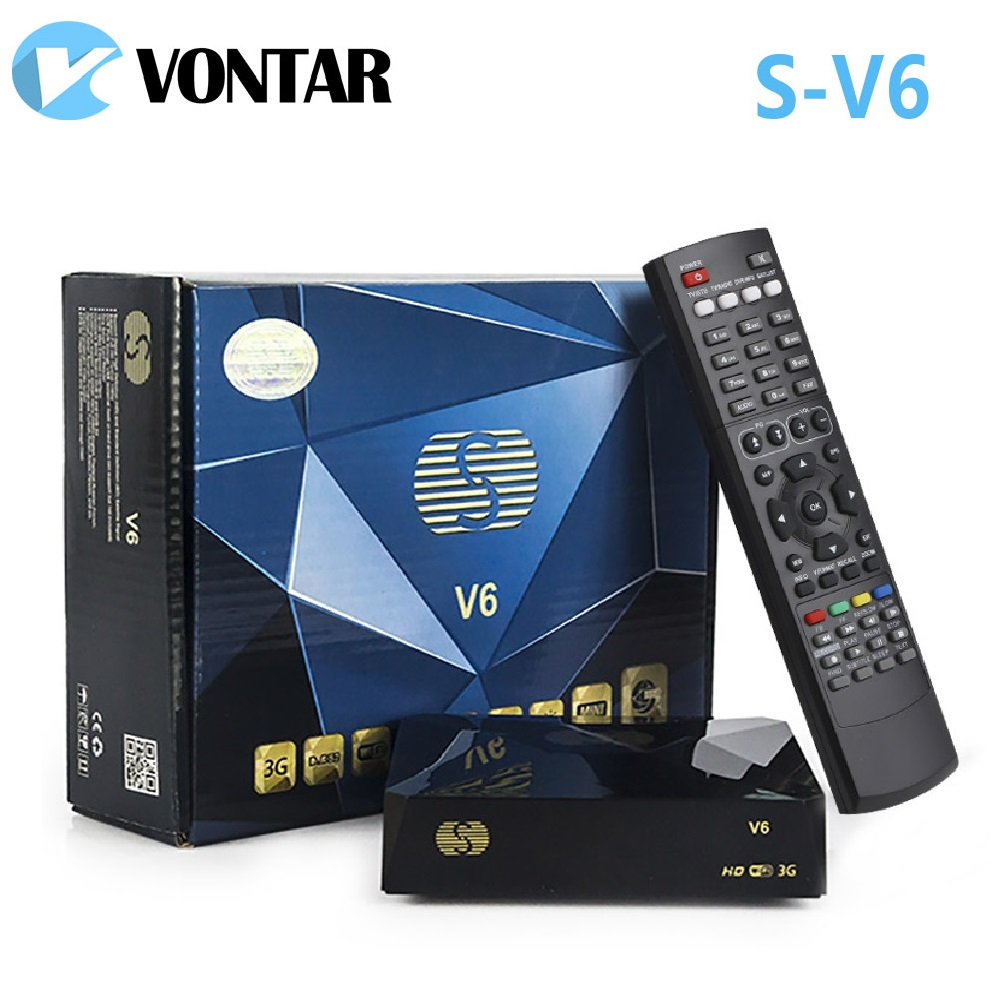 [Genuine]S-V6 Mini HD DVB-S2 Satellite Receiver V6 Support CCCAMD Newcamd xtream iptv Wheel TV youtube USB Wifi Biss Key