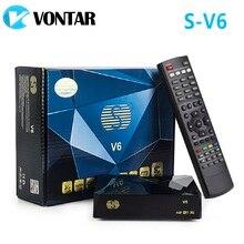 [Genuíno] S V6 mini receptor satélite hd DVB S2, v6, suporte para cartão, compartilhamento, roda de newcamd xtream tv, youtube, usb, wi fi biss chave,
