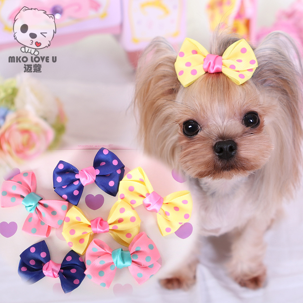 Must see Hair Bows Bow Adorable Dog - 5-Piece-Set-Cute-Wave-Point-Bowknot-Dog-Bows-Usful-Dog-Hair-Accessories-Dog-Hair-Bows  Pictures_877673  .jpg