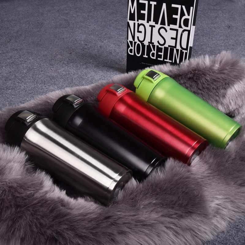 480ML 16OZ Brand stainless steel Travel Thermos water bottle Portable Insulated Car Coffee Mug Vacuum Cup Flask tea cup Gift