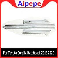 Toyota corolla hatchback 2019 2020 4 pcs 자동차 abs 외관 자동차 사이드 도어 바디 트림 몰딩 액세서리 사이드 커버 트림