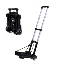 Metal Folding Portable Travel Cart Adjustable Home Luggage Carts Trolley Shipping Cart Fixed Travel Bags Accessories